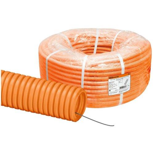 Труба гофрированная ПНД d 32 с зондом (50 м) легкая оранжевая TDM труба гофрированная пнд d 40 с зондом 25 м легкая оранжевая tdm