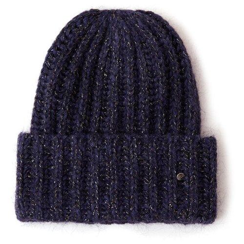 шапка женская finn flare цвет ярко синий a20 11148 111 размер 56 Шапка женская Finn Flare, цвет: темно-синий A20-32144_101, размер: 56