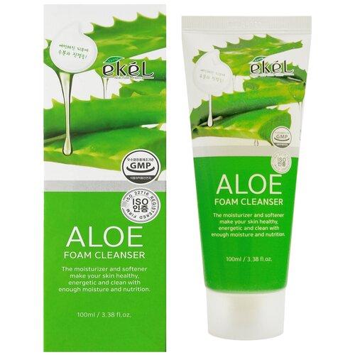 Купить [EKEL] Нежная пенка для умывания с экстрактом алоэ Aloe Foam Cleanser, 100 мл