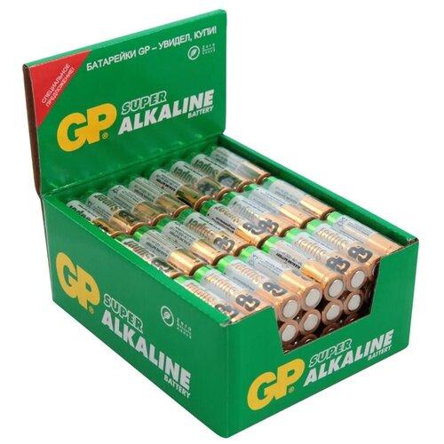 Батарейка алкалиновая GP Batteries Super Alkaline, тип АА LR06, 96 шт батарейка gp алкалиновые типоразмера аа 4 шт