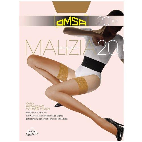 Чулки Omsa Malizia, 20 den, размер 2-S, camoscio (коричневый) чулки omsa malizia 40 den размер 2 s sierra коричневый