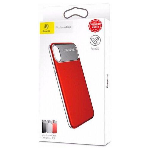 Фото - Чехол-накладка Baseus Slim Lotus Case для Apple iPhone X red чехол накладка baseus thin case для apple iphone x black