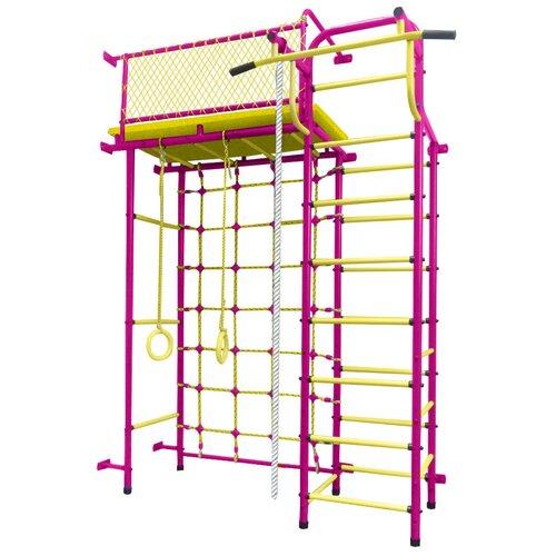 Купить Спортивно-игровой комплекс Пионер 10СМ, пурпурный/желтый, Игровые и спортивные комплексы и горки