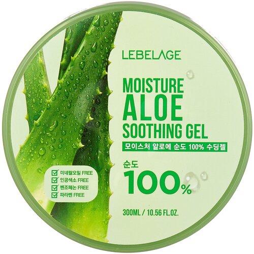 Гель для тела Lebelage увлажняющий успокаивающий с экстрактом алоэ Moisture Aloe Soothing Gel, 300 мл гель для тела lebelage moisture avocado 100% soothing gel универсальный с экстрактом авокадо 300 мл