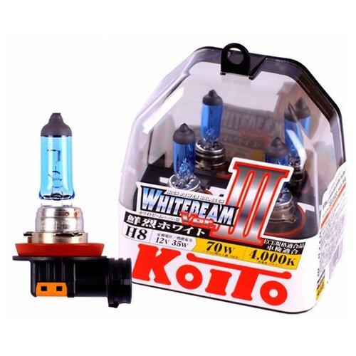 Лампа галогенная Koito Whitebeam H8 12V 35W (70W) 4500K, 2 шт. (блистер)