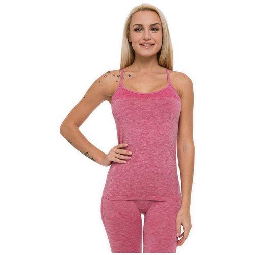 Женская спортивная майка на бретелях для фитнеса Formeasy розовый, размер 44-46