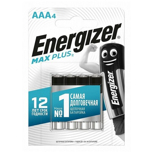 Фото - Батарейка AAA LR03 ENERGIZER MAX PLUS 8 шт батарейка energizer max aaa lr03 алкалиновая 4bl