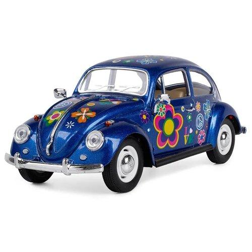 Купить Легковой автомобиль Serinity Toys Volkswagen Classical Beetle 1967 (7002DFKT) 1:24, 16 см, синий, Машинки и техника