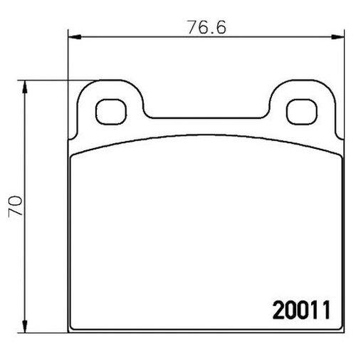 Комплект тормозных колодок Textar 2001102 для Mercedes 8 W115 W115, COUPE W111 W111, HECKFLOSSE W110 W110, HECKFLOSSE W111 W112 W111, W112, mercedes benz c class w111 w112 59