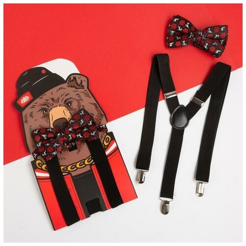 Набор мужской KAFTAN подтяжки и галстук-бабочка