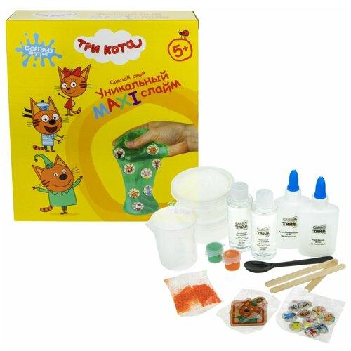 Слайм тайм Три кота, 1Toy (набор для творчества, 25,5x22,5x5 см, Т16618)