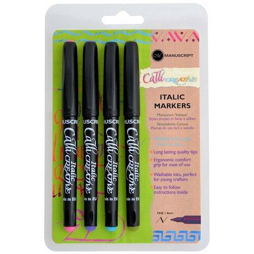 Купить Набор маркеров для каллиграфии Manuscript CalliCreative 1, 4мм ассорти 4шт MM6602, Фломастеры и маркеры