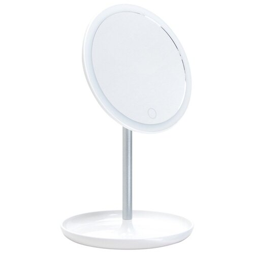 Зеркало косметическое настольное Gezatone LM207 с подсветкой белый
