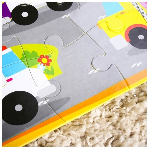 Развивающий коврик - пазл «Транспорт», 28 элементов
