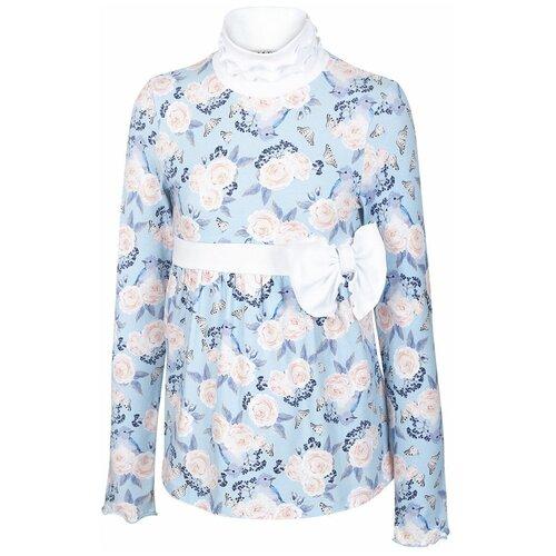 Водолазка Nota Bene размер 122, светло-голубой блузка nota bene размер 122 голубой