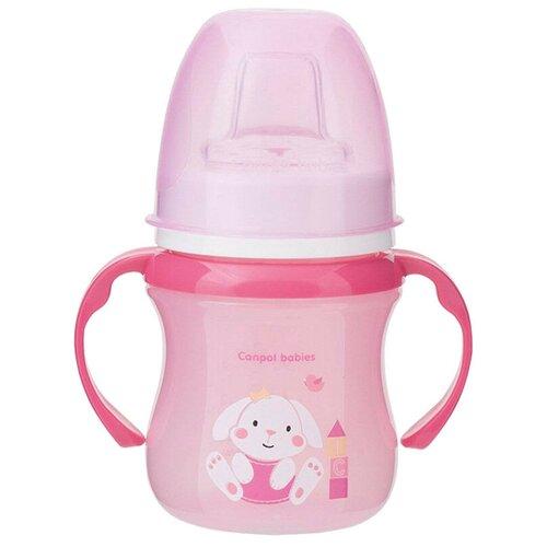 Фото - Поильник-непроливайка Canpol Babies 35/207, 120 мл розовый/зайчик поильник непроливайка canpol babies 31 404 250 мл фиолетовый