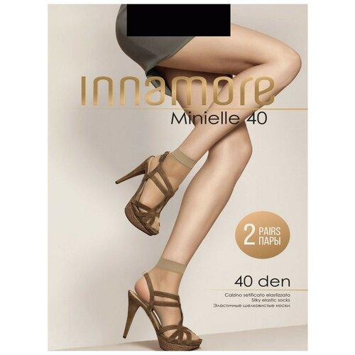 Капроновые носки Innamore Minielle 40 den, 2 пары, размер UNI, nero