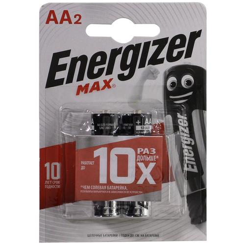 Фото - Батарейка AA щелочная Energizer MAX AA-LR6 1.5V 2 шт батарейка aa щелочная perfeo lr6 10bl super alkaline 10 шт
