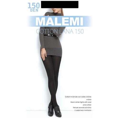 Колготки Malemi Cotton Lana, 150 den, размер IV, nero (черный)