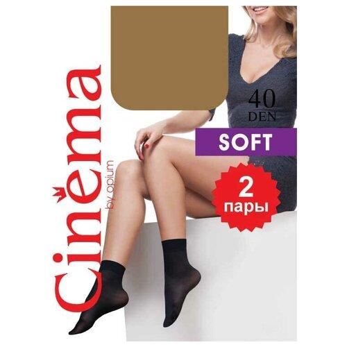 Капроновые носки Cinema by opium Cinema Soft 40 den, 2 пары, размер one size, daino
