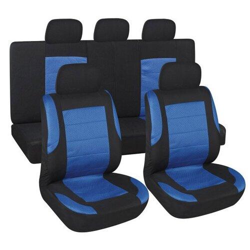 Чехлы автомобильные SKYWAY Forward- 6 полиэстер/сетка 9 предм. черно/синий