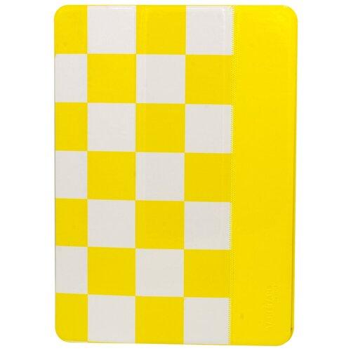 Чехол-книжка MyPads для планшета Apple iPad 2/3/4 из качественной лаковой кожи тематика шахматы желтый