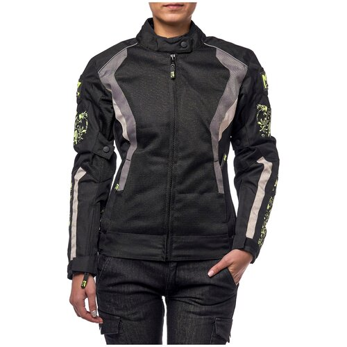 Текстильная куртка Moteq Roxy черный/зеленый XL (Размер производителя)