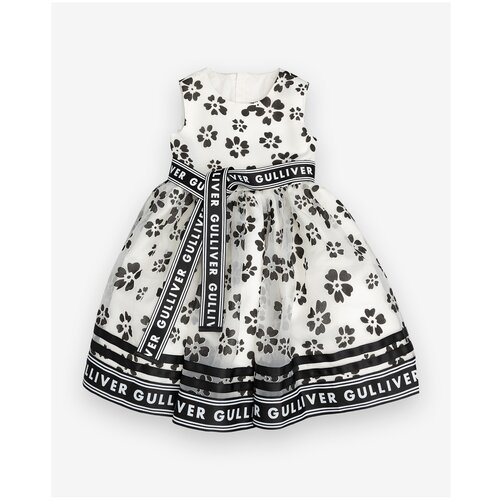 Платье Gulliver размер 104, белый платье modis размер 104 белый