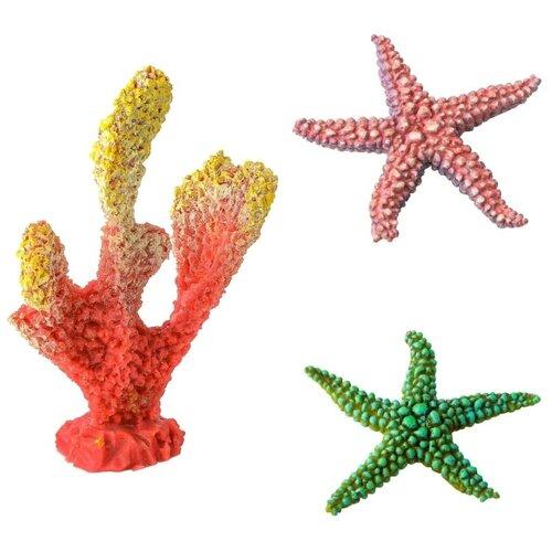 Декорации для оформления аквариума Marvelous Aqva набор, N-04