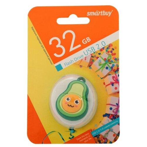 """Флешка Smartbuy Wild series """"Авокадо"""" 32 Гб USB2.0 чт до 25 Мб/с зап до 15 Мб/с 6711949"""
