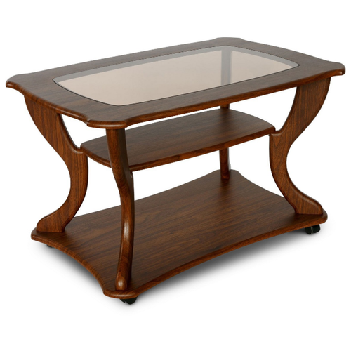 Столик журнальный Калифорния мебель Маэстро СЖС-02, ДхШ: 90 х 60 см, орех недорого