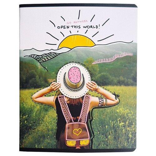 Купить Тетрадь общая BeSmart А5 48л, клетка, поля, скрепка, Discovery горы N1882 3 штуки, Be Smart, Тетради