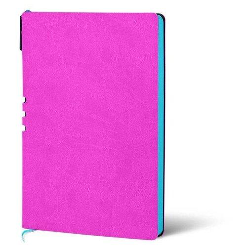 Купить Набор LOREX LXDRA5-CL, искусственная кожа, А5, 128 листов, фуксия/бирюзовый, Ежедневники, записные книжки