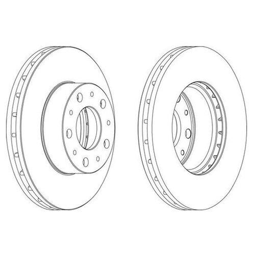 Фото - Тормозной диск Ferodo DDF1800 для Citroen JUMPER; Fiat DUCATO; Peugeot BOXER тормозной диск задний miles k010676 280x16 для citroen jumper fiat ducato peugeot boxer