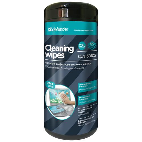 Фото - Defender Cleaning Wipes CLN 30102 влажные салфетки 100 шт. для экрана салфетки чистящие defender eco cln 30300