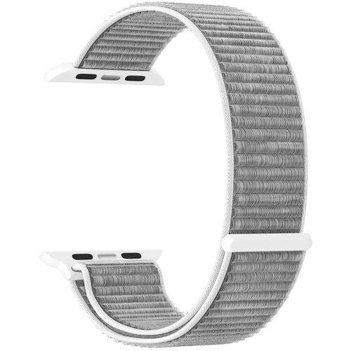 Фото - Нейлоновый ремешок для Apple Watch 42/44 mm LYAMBDA VEGA DS-GN-02-44-6 Gray-white нейлоновый ремешок для apple watch 42 44 mm lyambda vega ds gn 02 44 6 gray white