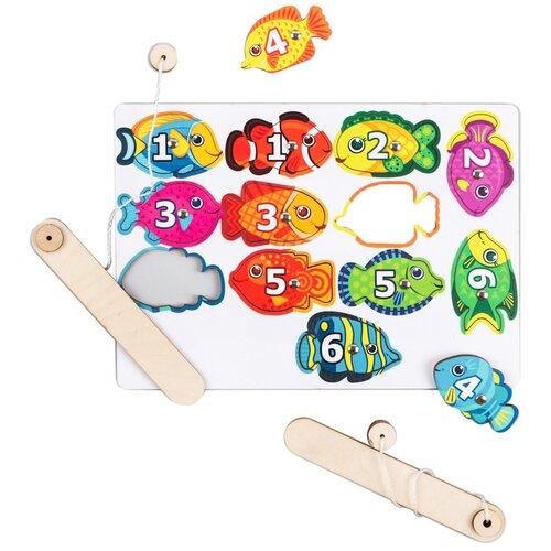 Купить Игра Рыбалка с магнитами Рыбки 4363657, Лесная мастерская, Развитие мелкой моторики
