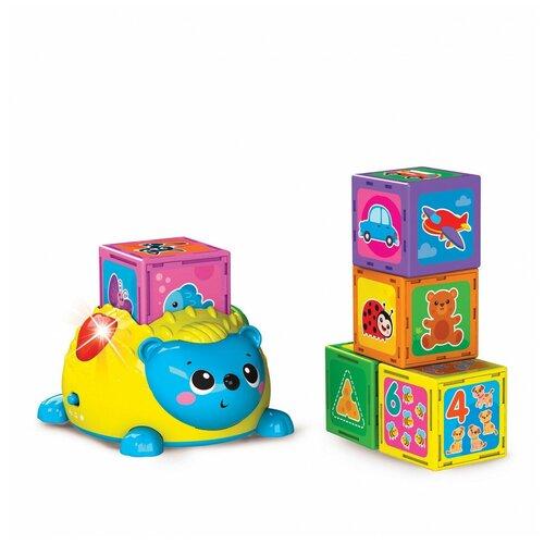 Купить Игрушка Азбукварик Первые знания с ежиком Желтый 2848В, Развивающие игрушки