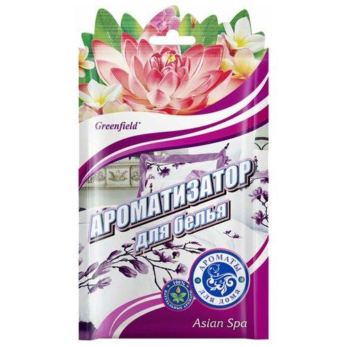 Greenfield саше Asian spa, 15 гр 1 шт. greenfield ароматизатор освежитель воздуха parfum francais le violet 15 гр