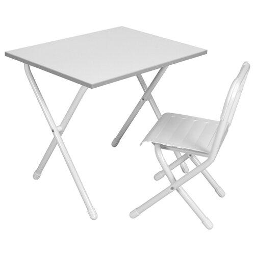 Купить Комплект ДЭМИ стол + стул №2-04 белый, Парты и столы