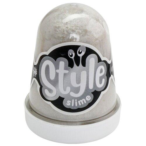 Лизун LORI Style Slime блестящий с ароматом тутти-фрутти серебро