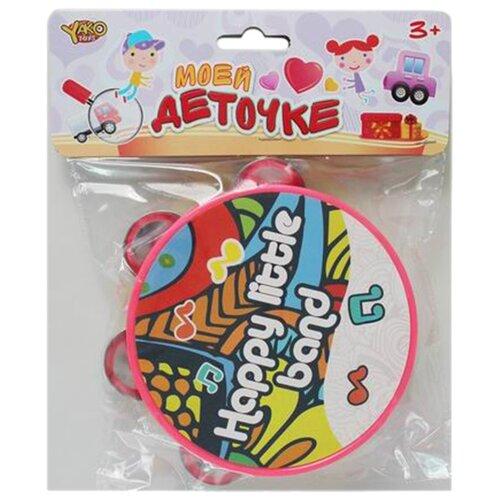 Купить Yako бубен M0817 разноцветный, Детские музыкальные инструменты