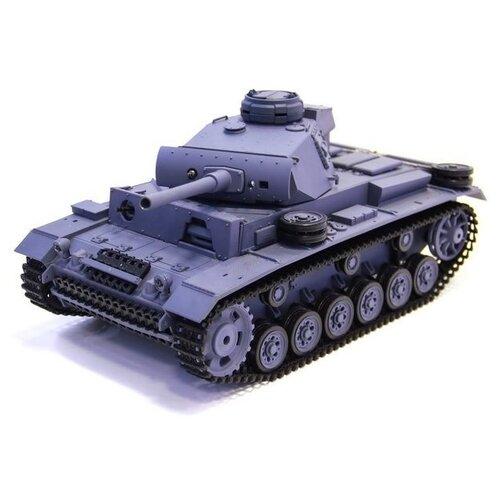 Фото - Радиоуправляемый танк Heng Long Panzer III type L Original V6.0 2.4G 1/16 RTR радиоуправляемый танк heng long радиоуправляемый мини танковый бой cs toys 9819
