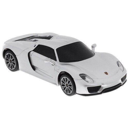 Купить Легковой автомобиль Rastar Porsche 918 Spyder (71400) 1:24 20 см серебристый, Радиоуправляемые игрушки