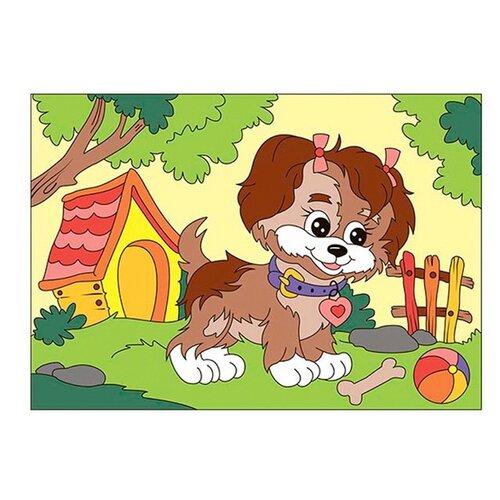 Фото - LORI Картина по номерам Щенок-озорник (Ркн-039) картина по номерам lori любопытный щенок 28 5х20 см