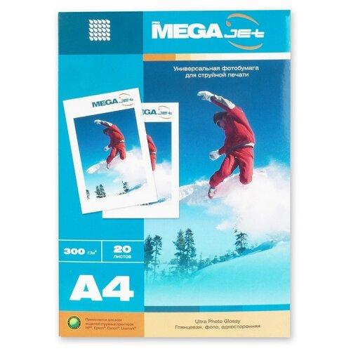 Бумага ProMEGA для цветной струйной печати, Jet, А4, 300 г, глянцевая, 20 листов (60572)