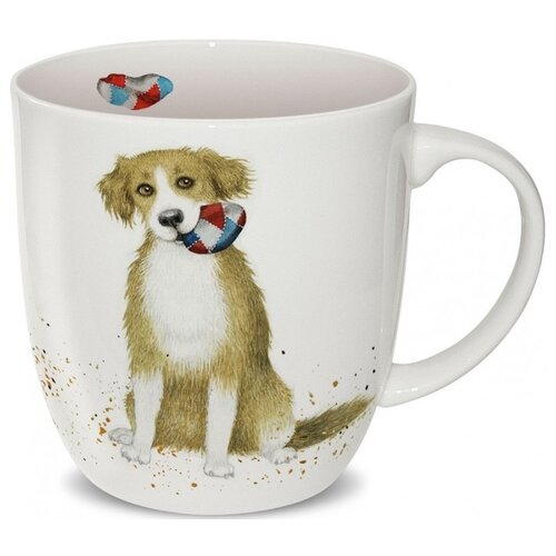 Кружка PRIORITY Наглая рыжая морда Собака в подарочной коробке, 380 мл, белый посуда и инвентарь priority кружка кот матис счастье есть в подарочной коробке 380 мл