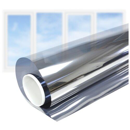 Пленка самоклеящаяся на окно солнцезащитная зеркальная Silver 5 - Комплект на 4-створчатое окно