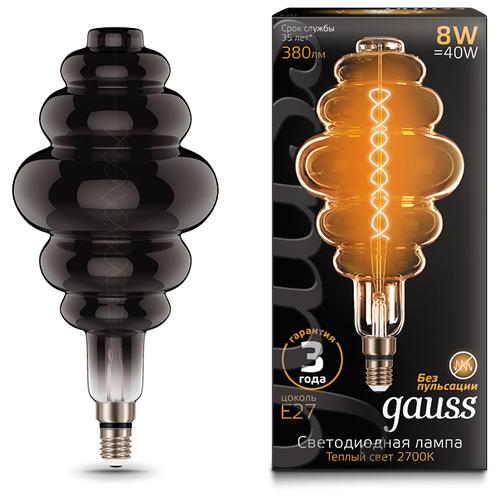 Лампа светодиодная gauss 159802008, E27, 8Вт лампа светодиодная gauss 102802108 e27 a60 8вт