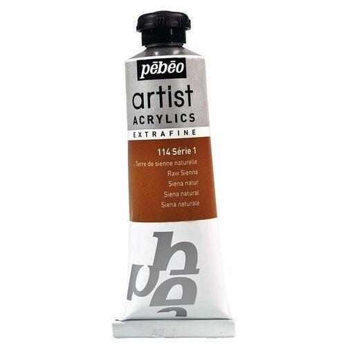 Краска акриловая Pebeo Artist Acrylics extra fine №1 (Сиена натуральная), 37 мл краска акриловая pebeo studio acrylics сиена натуральная 500 мл